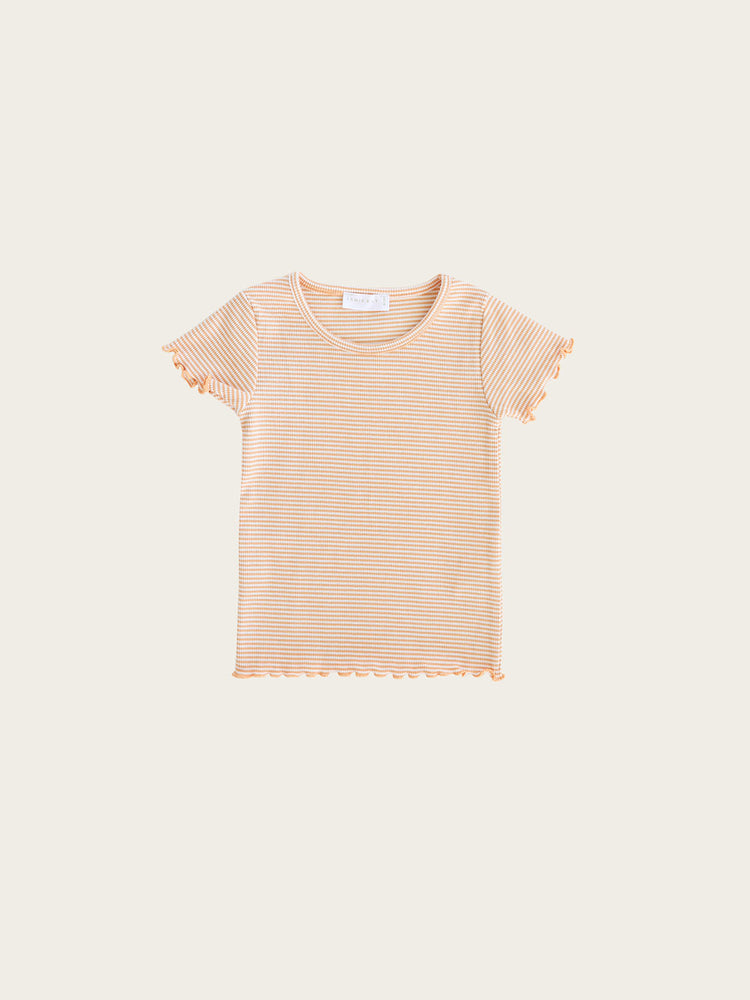 Load image into Gallery viewer, JAMIE KAY Lily Tee - Apricot Stripe