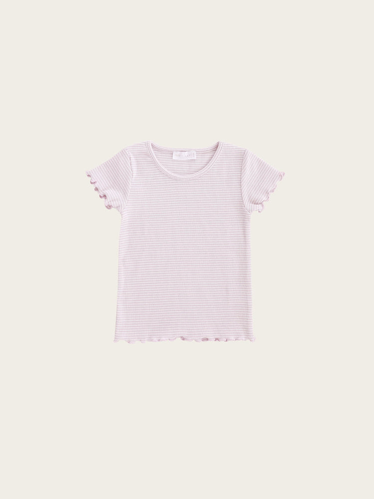 Load image into Gallery viewer, JAMIE KAY Lily Tee - Lavender Stripe