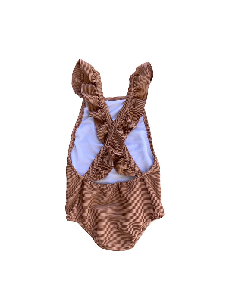 RUFFETS & CO Lottie Swimsuit - Ribbed Clay