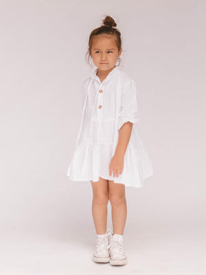 THE LULLABY CLUB Kids Avalon Dress - White