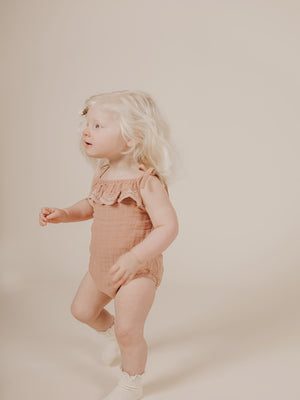 Load image into Gallery viewer, JAMIE KAY Luna Embroidered Playsuit - Sunset