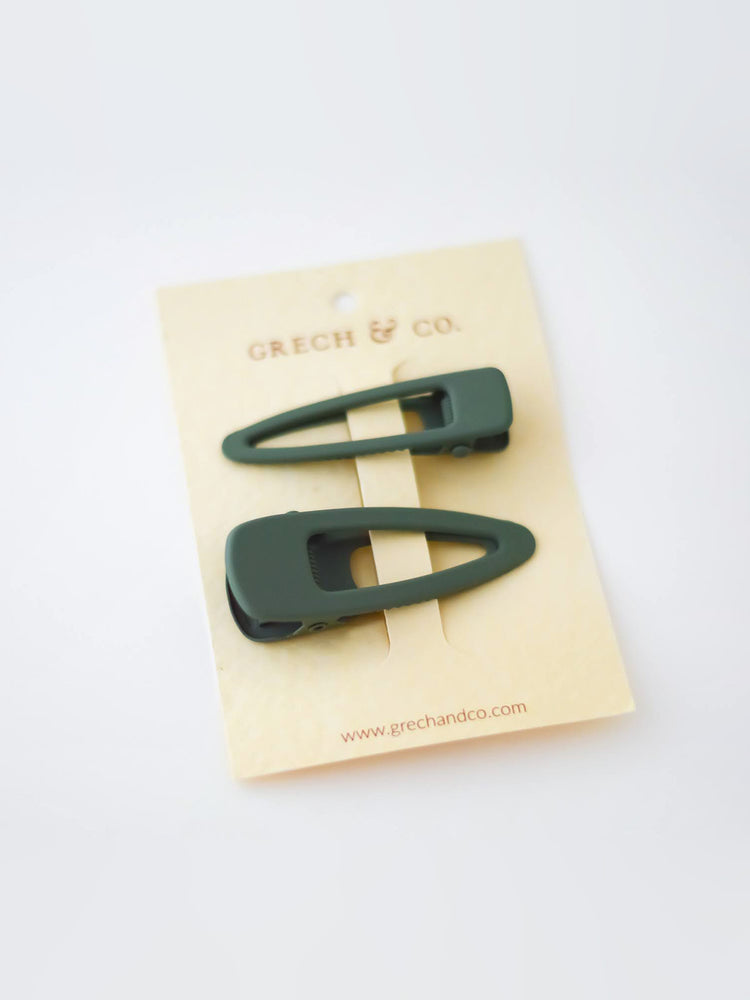 Load image into Gallery viewer, GRECH & CO Matte Clips Set of 2 - Fern