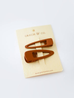 GRECH & CO Matte Clips Set of 2 - Spice