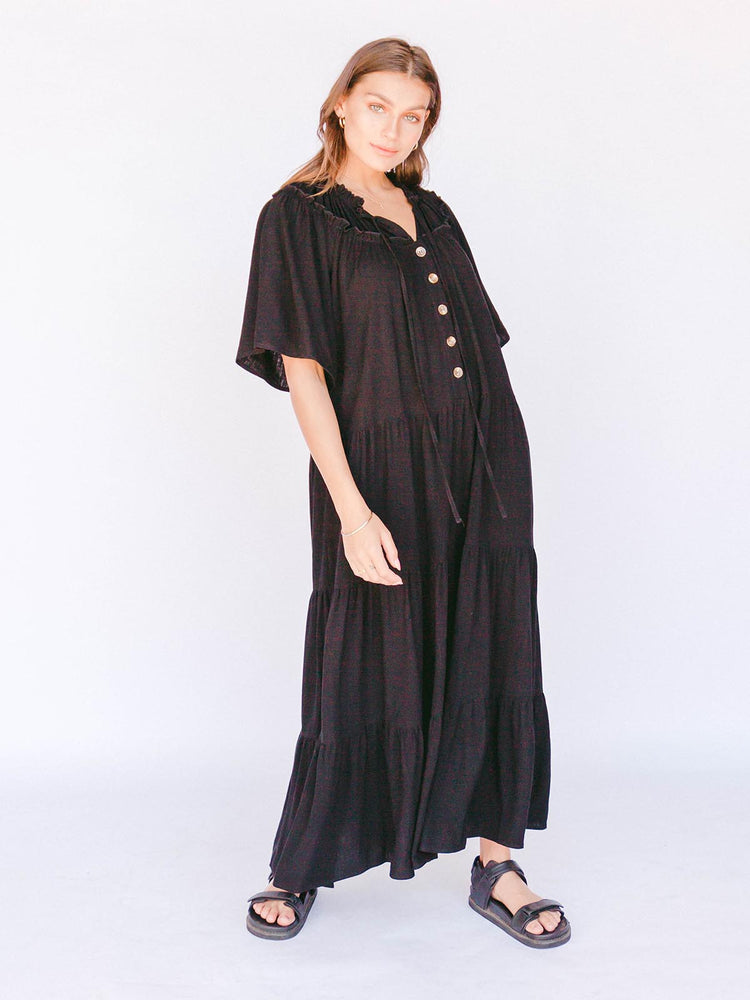 Load image into Gallery viewer, THE LULLABY CLUB Nikita Maxi Dress - Jett