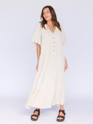 THE LULLABY CLUB Nikita Maxi Dress - Oat