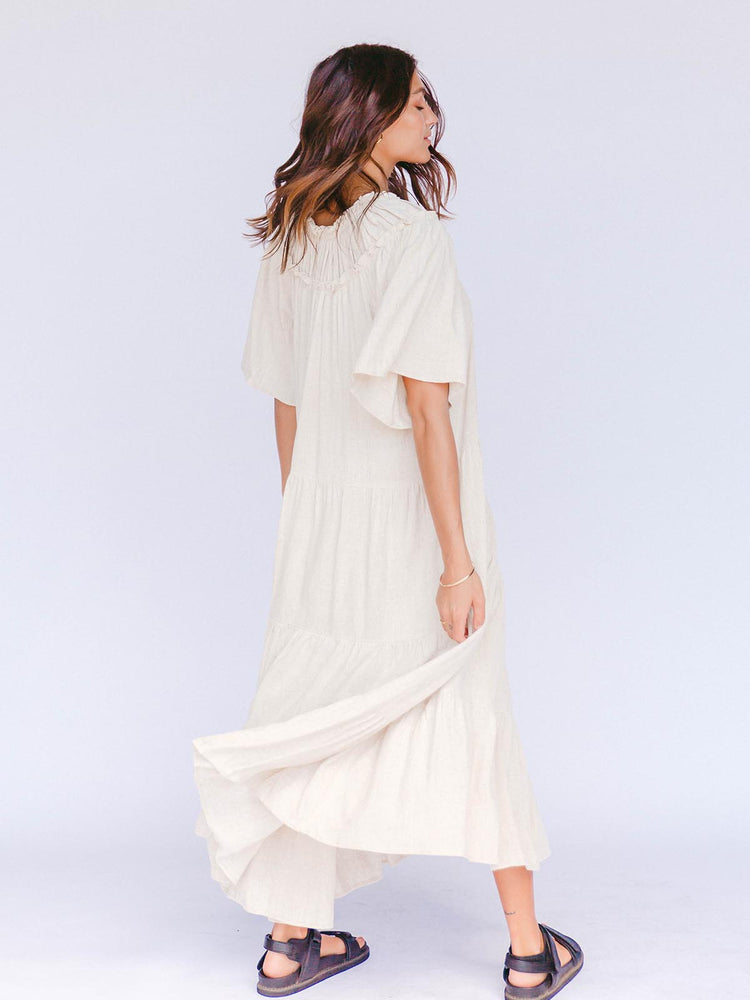 Load image into Gallery viewer, THE LULLABY CLUB Nikita Maxi Dress - Oat