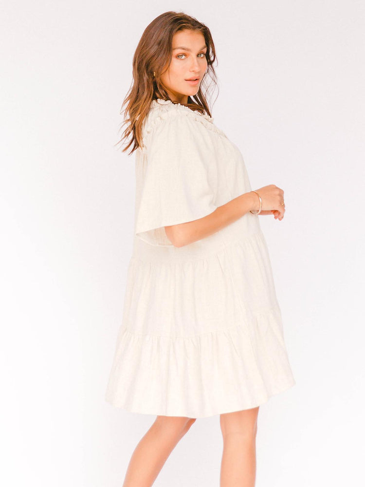 THE LULLABY CLUB Nikita Tiered Dress - Oat
