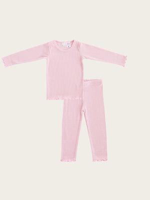 Load image into Gallery viewer, JAMIE KAY LS Pyjama Set - Bubblegum Stripe
