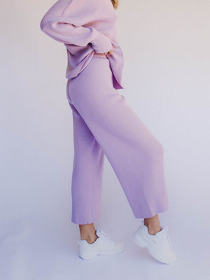 THE LULLABY CLUB Alex Knit Pant - Periwinkle