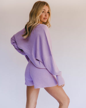 THE LULLABY CLUB Alex Knit Sweater - Periwinkle
