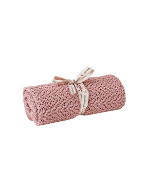 Load image into Gallery viewer, GARBO & FRIENDS Crochet Knit Blanket - Berry Pink