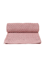 GARBO & FRIENDS Crochet Knit Blanket - Berry Pink