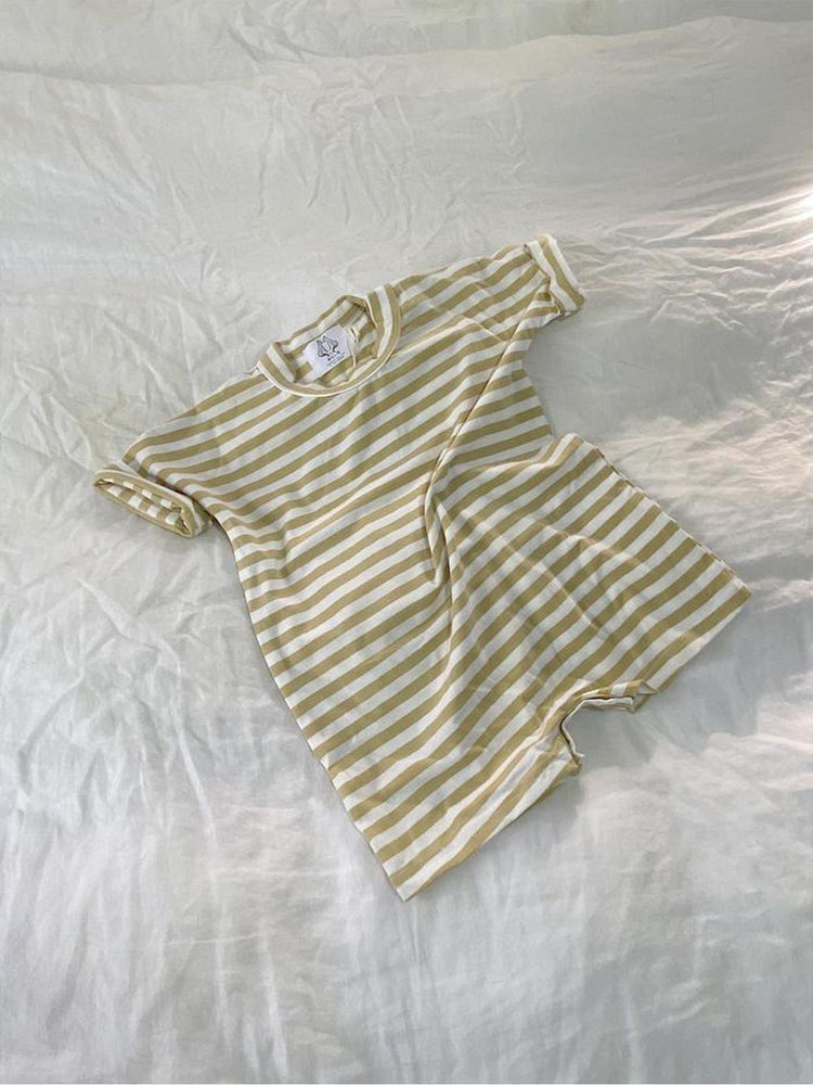Load image into Gallery viewer, BY BILLIE Play Romper - Vintage Stripe