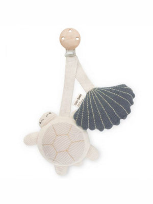 BABY BELLO Tilly the Turtle Pram Toy - Blue