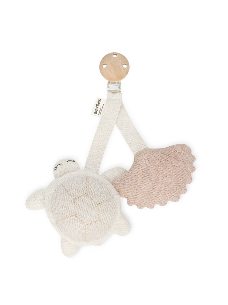 BABY BELLO Tilly the Turtle Pram Toy - Pink