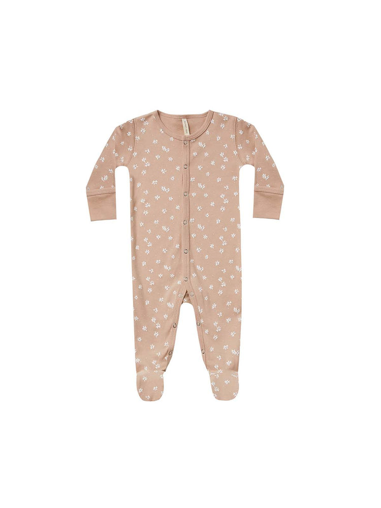 Quincy Mae Footed Onesie Petal Blossom