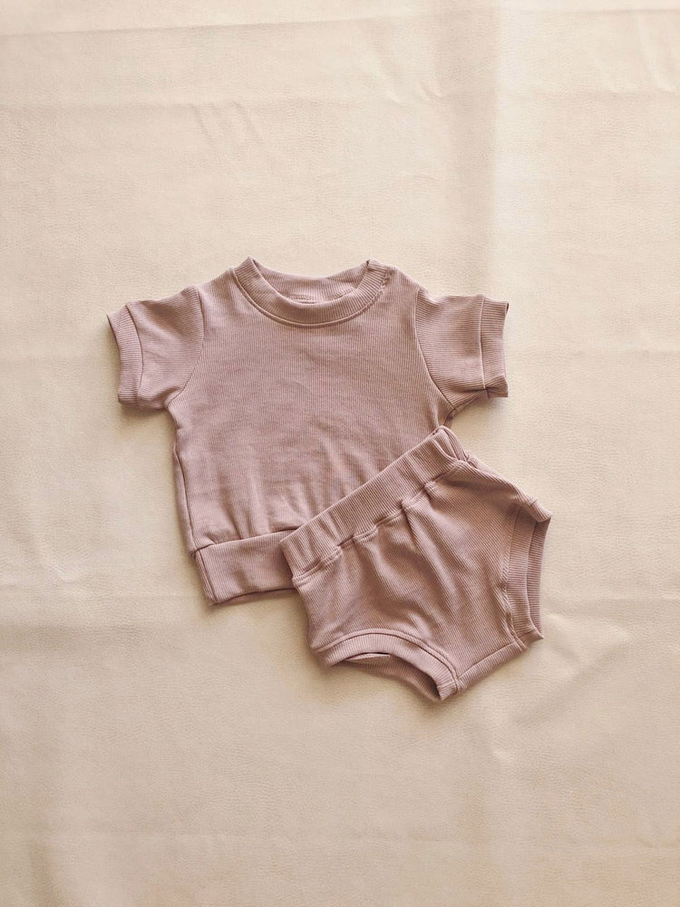TINY TROVE Roo Set - Mauve