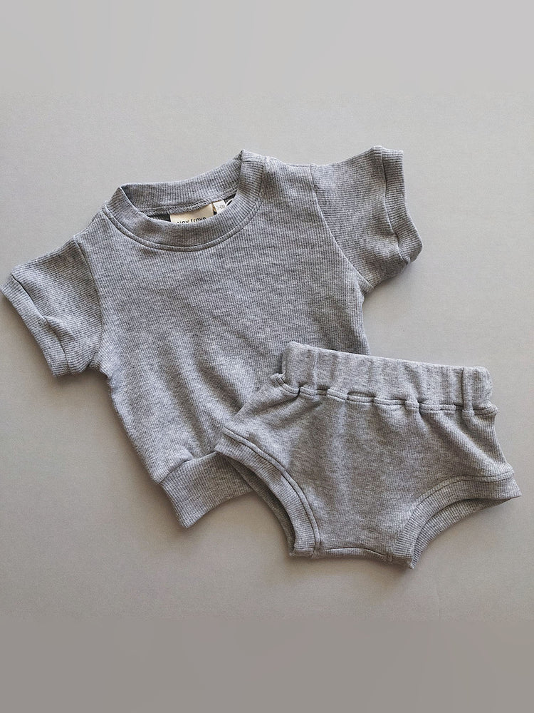Load image into Gallery viewer, TINY TROVE Roo Set - Grey Marle