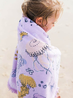 Load image into Gallery viewer, THE BEACH PEOPLE Sirene Petite Round Towel
