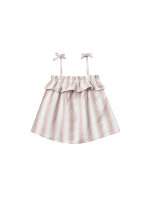 RYLEE + CRU Ruffle Tube Top - Petal Stripe