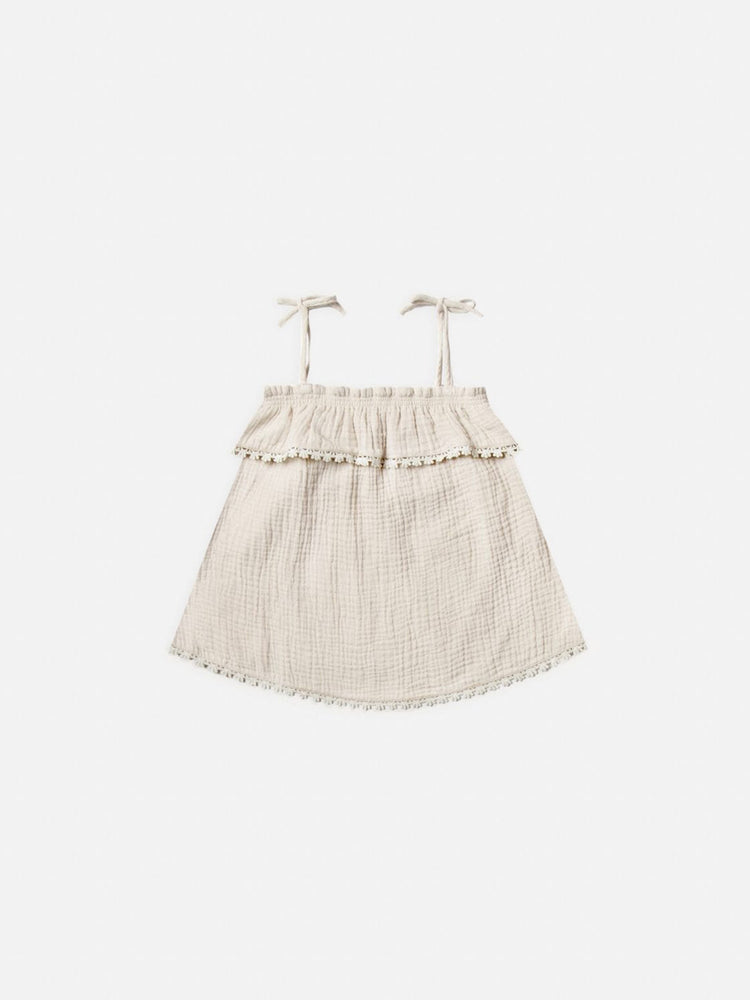 RYLEE + CRU Ruffle Tube Top - Natural