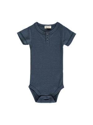 Load image into Gallery viewer, MARMAR COPENHAGEN Short Sleeve Bodysuit - Blue