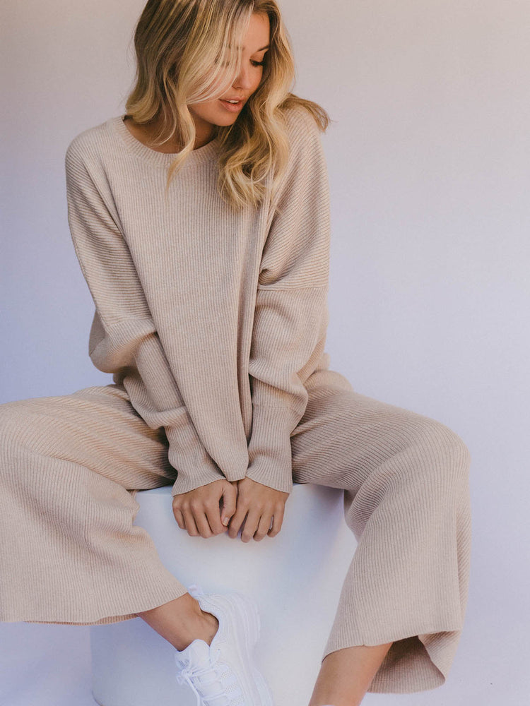 THE LULLABY CLUB Alex Knit Sweater - Sand