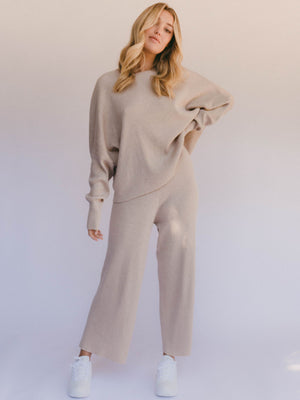 The Lullaby Club Knit Pant Sand