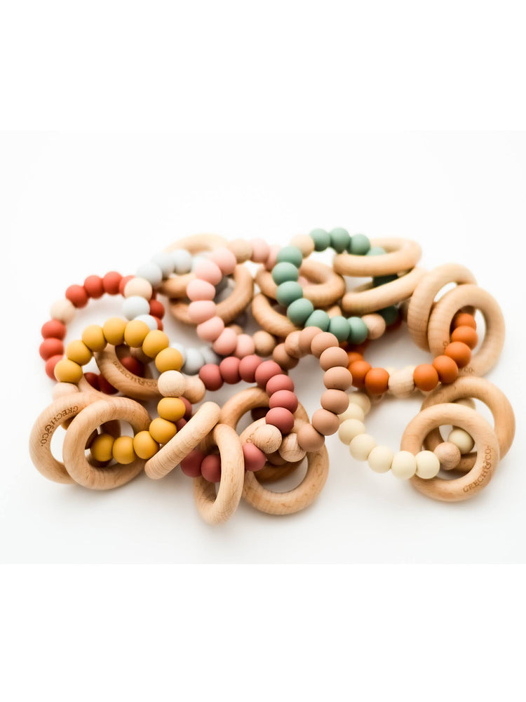 Load image into Gallery viewer, GRECH & CO Sedona Teething Ring - Burlwood