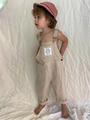 BY BILLIE Signature Overall - Gingham Biscuit