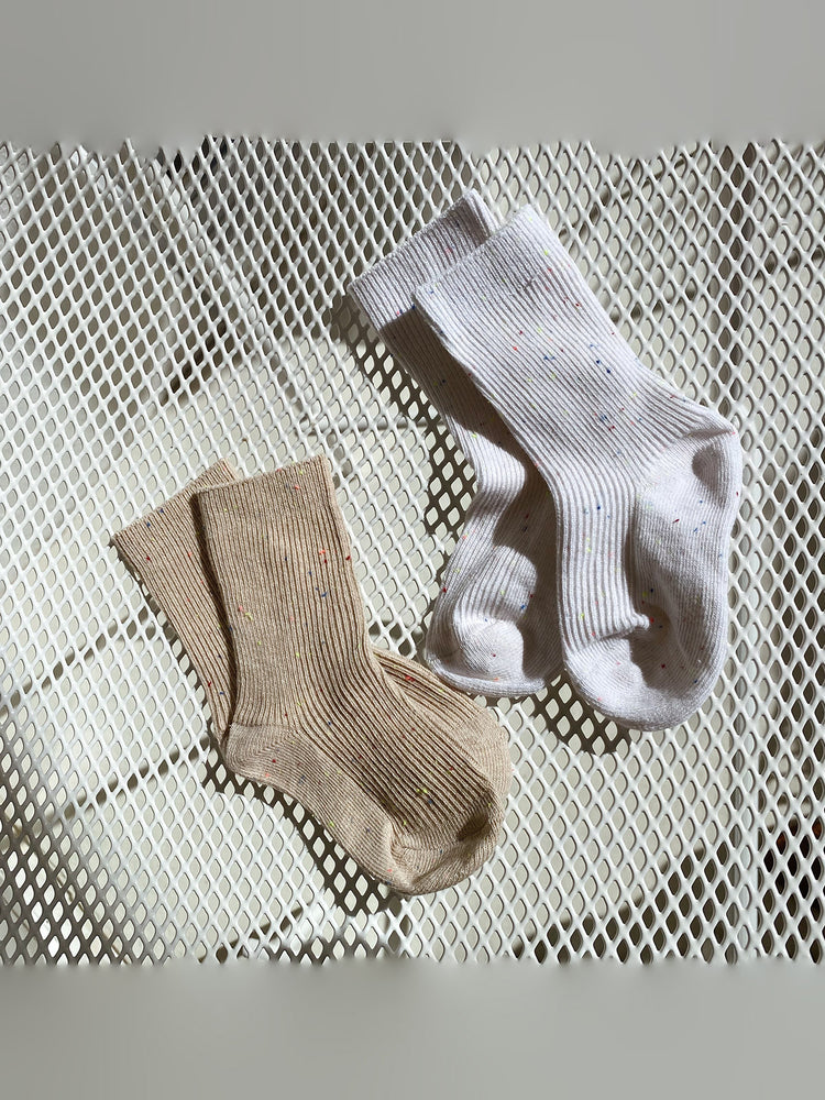 TINY TROVE Sprinkle Socks - Tan