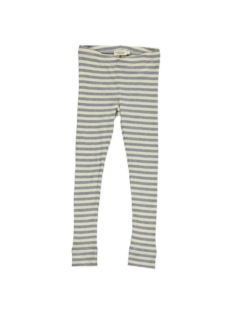 MARMAR COPENHAGEN Stripe Leggings - Grey Melange/Off White