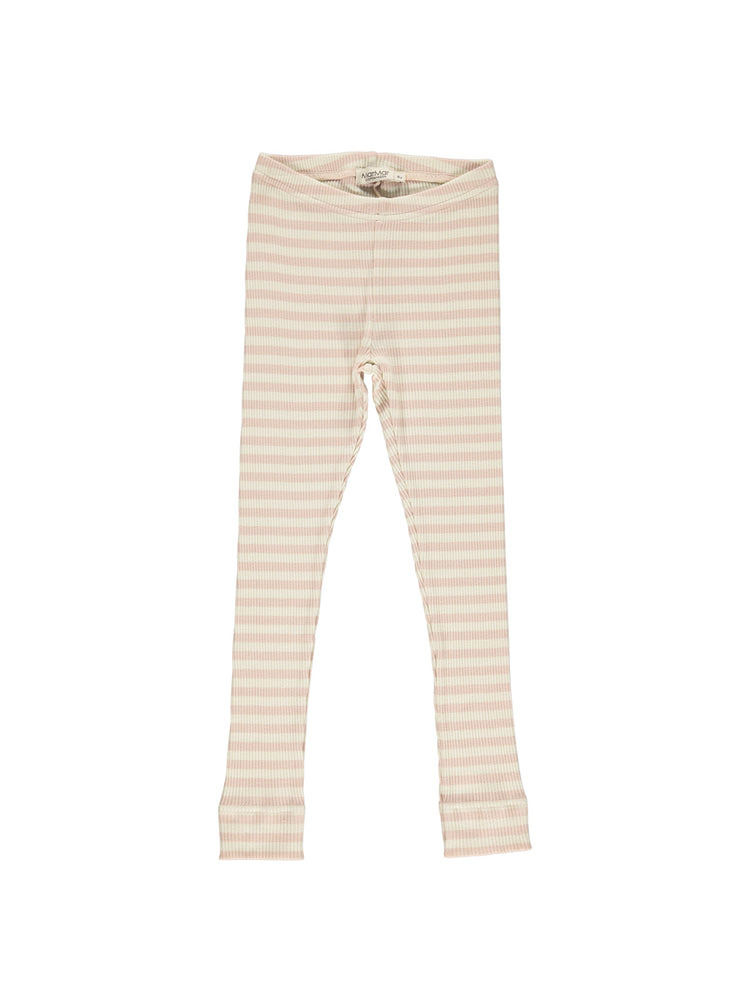 Load image into Gallery viewer, MARMAR COPENHAGEN Stripe Leggings - Rose/Off White