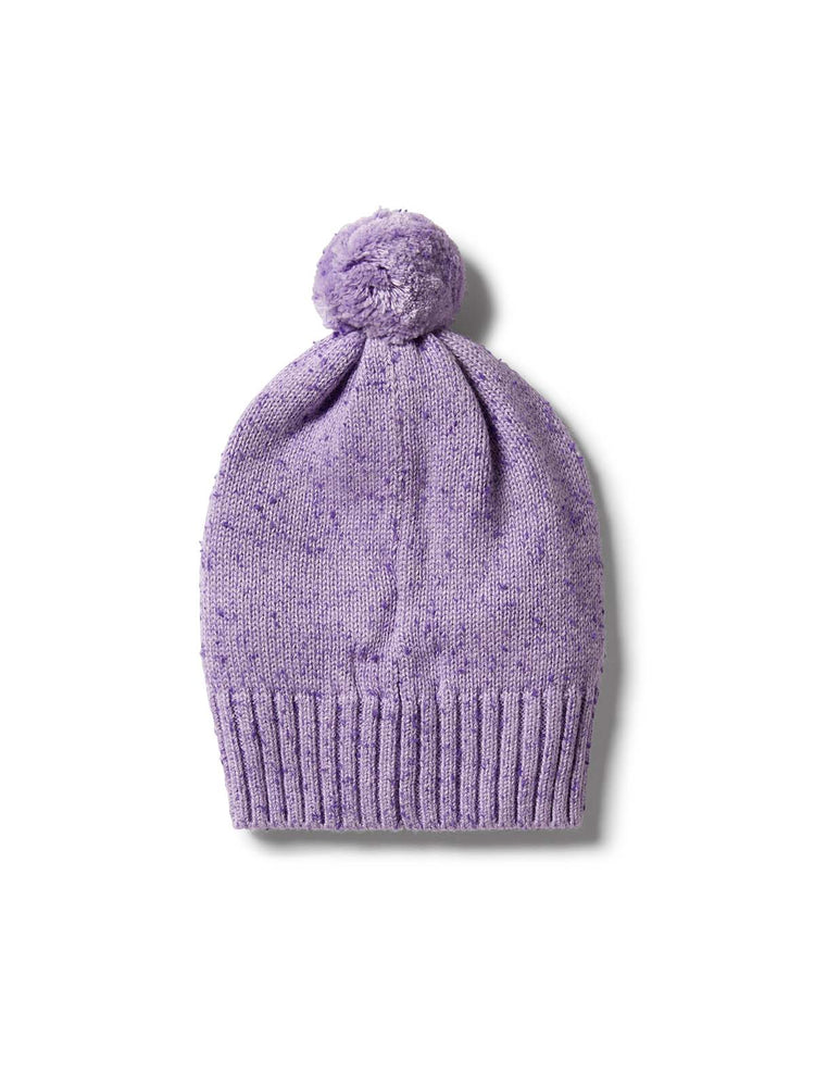 Load image into Gallery viewer, WILSON & FRENCHY Knitted Hat - Pastel Lilac Fleck