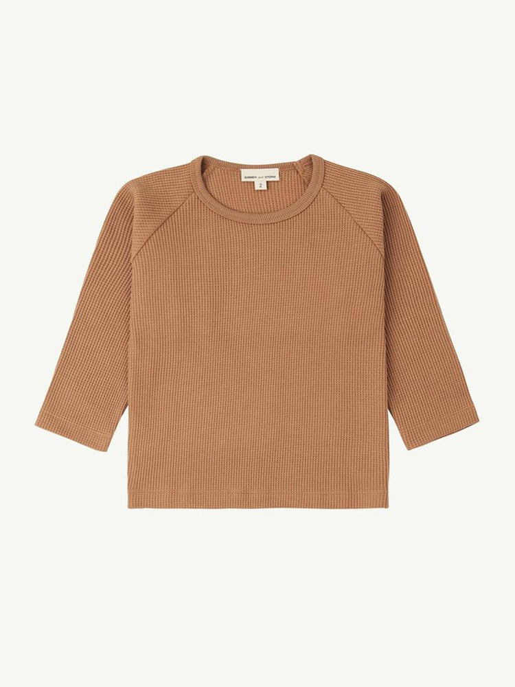 Load image into Gallery viewer, SUMMER AND STORM Waffle Long Sleeve Tee - Tan