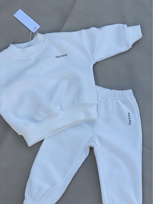Load image into Gallery viewer, TINY TROVE Woodie Logo Tracksuit - Chalk