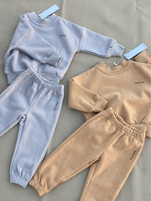 TINY TROVE Woodie Logo Tracksuit - Fawn