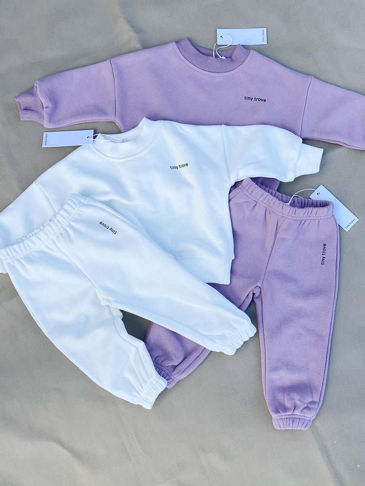 TINY TROVE Woodie Logo Tracksuit - Periwinkle
