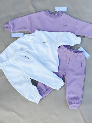 Load image into Gallery viewer, TINY TROVE Woodie Logo Tracksuit - Periwinkle