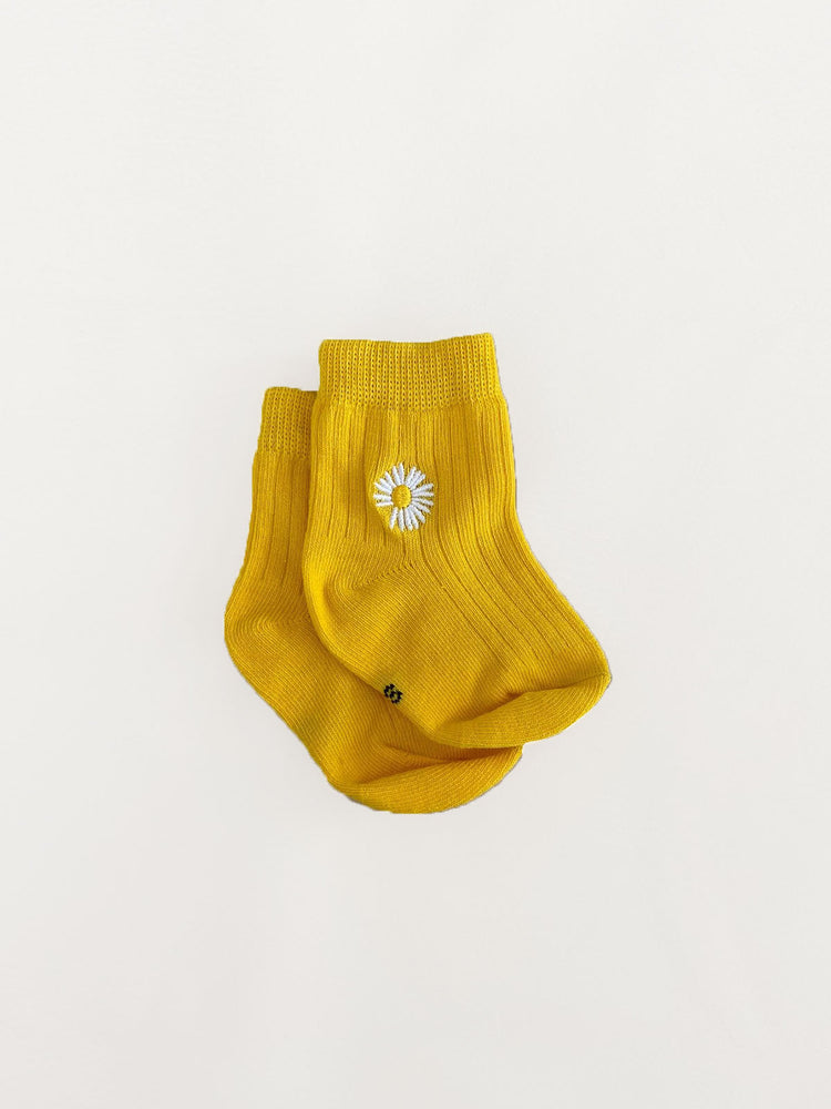 Load image into Gallery viewer, TINY TROVE Daisy Socks - Yellow