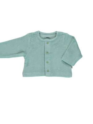 Load image into Gallery viewer, POUDRE ORGANIC Terry Cardigan - Blue Surf