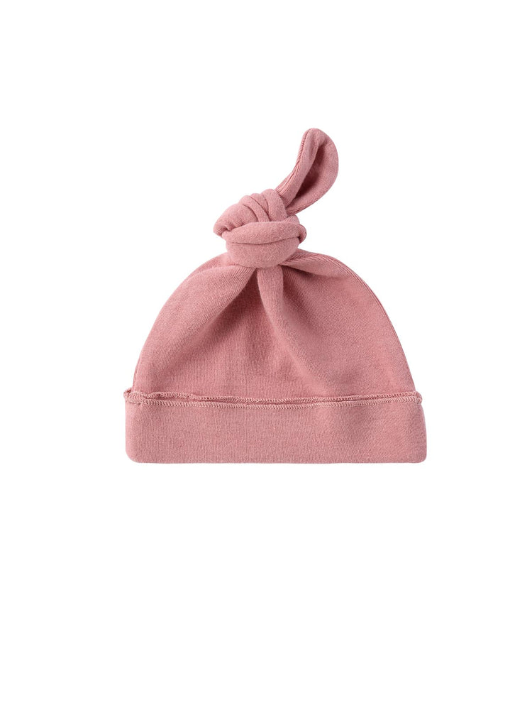 SUSUKOSHI Knotted Hat - Pink Clay