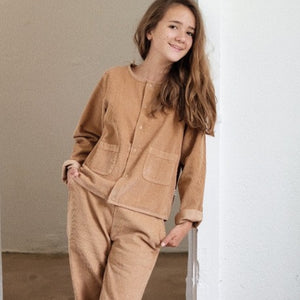 Load image into Gallery viewer, POUDRE ORGANIC Corduroy Jacket - Indian Tan
