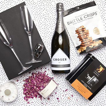 premium chocolate and champagne hamper