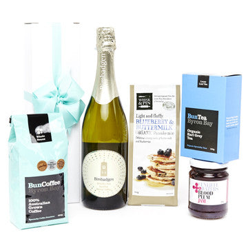 champagne hamper blue