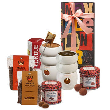 max brenner chocolate fondue tower gift set