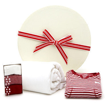 parisian baby gift - red