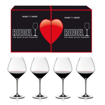 riedel heart to heart pinot noir glasses