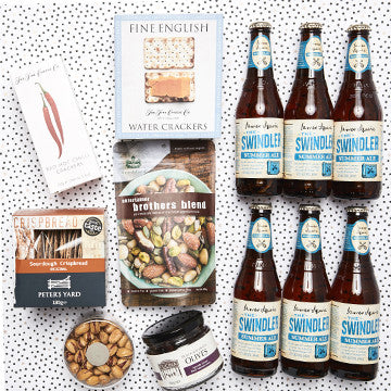 gourmet beer and nibbles hamper