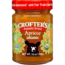 Load image into Gallery viewer, Crofter's Organic Premium Spread, Apricot, 10 oz (283 g)
